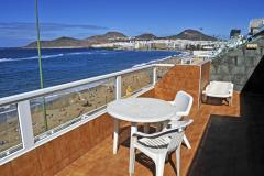 most spacious sun-terraces over Canteras beach in Playa Dorada Apartments, Las Palmas de Gran Canaria